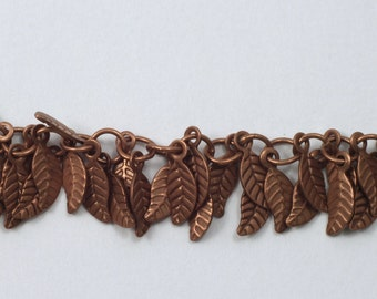 Antique Copper, 4mm x 6mm Leaf Chain #CC158