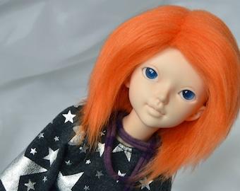 BJD Wig - Faux Fur 7-8 Tangoed Orange