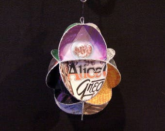 Alice Cooper Album Cover Ornament Made From Record Jackets