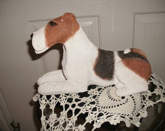 Sandra Brue's Wire Fox Terrier Dog Figurine