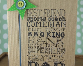 Dad typeface card - any occasion