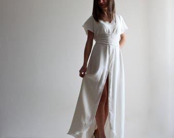Wedding Dress, Simple wedding dress, Beach wedding dress, tunic wedding dress, Sexy wedding dress, Silk wedding dress, Handfasting dress