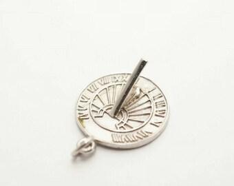 Vintage Sterling Sundial Charm