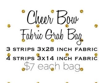 Cheer Bow Fabric Grab Bag