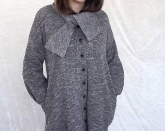 Oversized Sweater, Oversized Cardigan, Knitted Sweaters Women, Knit cardigan, Gray Cardigan, Gray Sweater, Womens Cardigan, Womens Sweaters