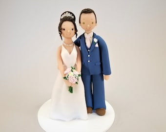 Bride & Groom Personalized Traditional Wedding Cake Topper