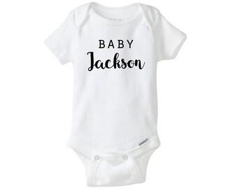 Personalized Last Name Onesie, Cute Onesie, Baby Bodysuit