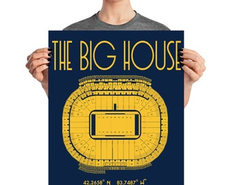 University of Michigan Wolverines Football The Big House Stadium Poster