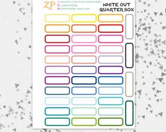 White Out Quarter Boxes [082]