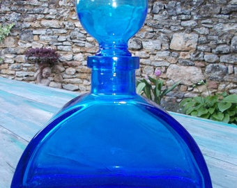 Large Cobalt Blue Glass bottle