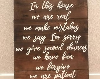 """In this house 