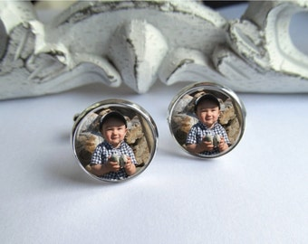 Cufflinks, Mens Cufflinks, Custom Photo Cufflinks
