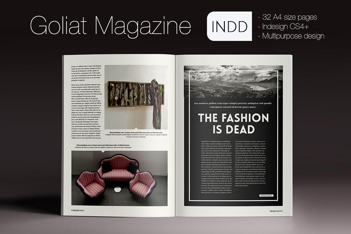 Goliat Magazine Indesign Template