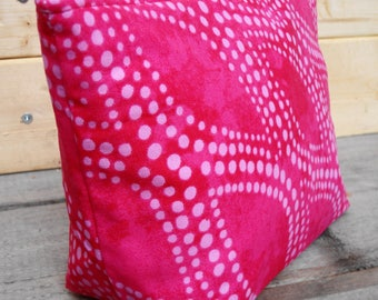 Zipper Pouch Cosmetic Bag - Pink Dot