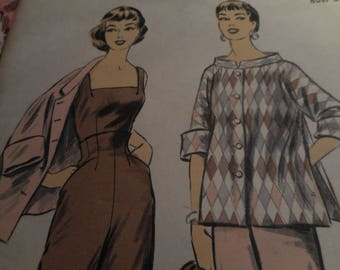 Vintage 1950's Advance 7074 Blouse, Pants and Coat Sewing Pattern, Size 12 Bust 30
