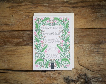 Mothers Day Flowers Mothers Day Card