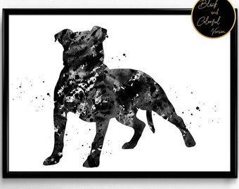 American Pit Bull Terrier, dog breed, Watercolor, Poster, Room Decor, gift, print, wall art (965)