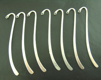 15pcs Wholesale Silver Bookmark Blanks - Metal Bookmarks - Blank Bookmark Findings - Antique Silver Bulk Lot Book Marks - Findings Blank