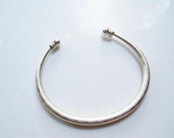 Tribal Thin Cuff, C Shaped Stacking Bracelet, Ethnic Bangle, Boho Jewelry