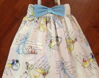 Disney Princess Themed Dress with Bow, Cinderella, Belle, Snow White