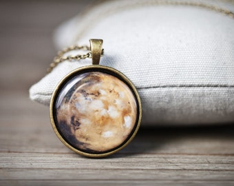 Mars Necklace - Planet Necklace - Mars planet pendant - Space jewelry - Space necklace - Galaxy necklace - Solar system jewelry, Cosmic gift