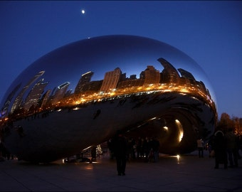 Chicago Night - Color Photo Print - Large Photo Print - Fine Art Photography (CH04)