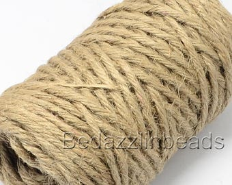 75 Feet 5 Ply 5mm Thick Natural Jute Twine String for Gardens and Crafts