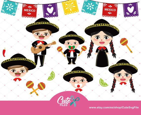m xico clipart set mariachi family babies mexican folklore rh etsy com free clipart mariachi band mariachi clipart free
