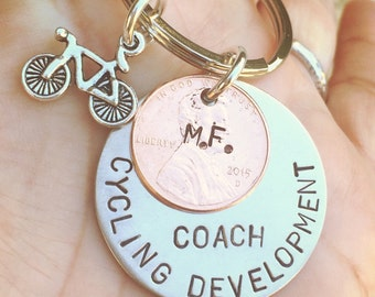 Mountain Bike Gift, Cycling Gift, Soccer Gift, Christmas Gift, High School Sports Keychain, Volleyball Keychain, Personalized Team Sports