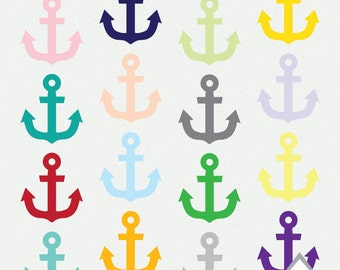 Anchor Clipart, Nautical Clipart, Anchors, Beach, Wedding Clipart, Small Commercial Use OK, PNG, Clipart, scrapbook element, digital anchors