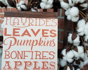 Autumn Subway Art sign with partial frame