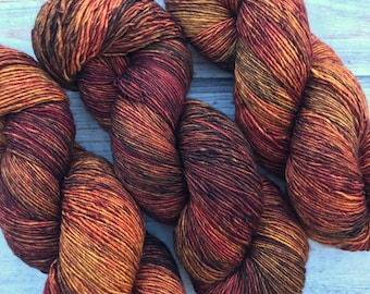 Merino Single by Skeinny Dipping in colorway Malaria Dreams