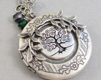 Family Tree,Family Tree Locket,Birthstone Necklace,Birthstone Jewelry,Family Tree Necklace,Love you necklace,Tree Jewelry,Woodland jewlery,