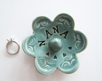 Nana ring dish,  Keepsake Ring Dish, Ready to Ship, Gift for Nana, Gift box included