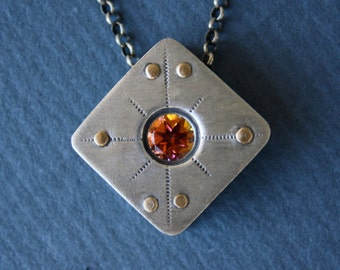 Sterling and Anastasia Topaz Necklace - Handmade
