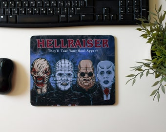 Hellraiser Mouse Pad (horror movie laptop computer mat cenobite dark evil lament configuration puzzle box chatterer butterball pinhead)