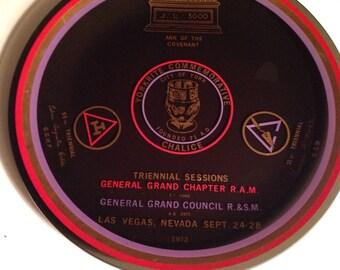 Rare 1972 Triennial Sessions Freemason Plate Las Vegas