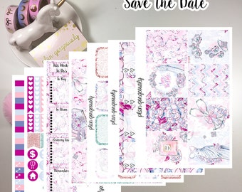 "Erin Condren and Happy Planner Sticker Kit - ""Save the Date"" - Wedding Planner Stickers"