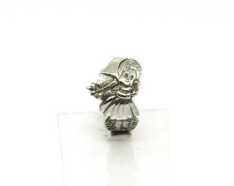 Heidi ring, Alp girl spoon ring, Swiss ring, novelty ring, Beloved book ring