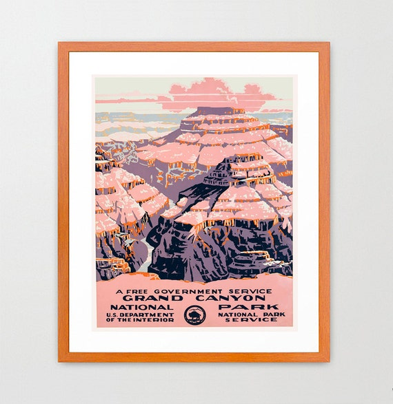 Grand Canyon - National Park - WPA Poster - National Park Art - Great Outdoors Poster
