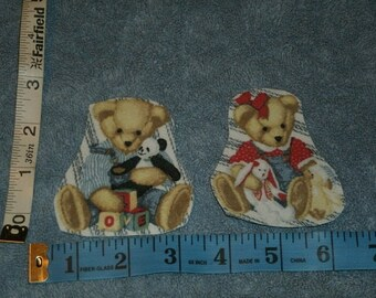 Teddy Bear  Iron On  Appliques