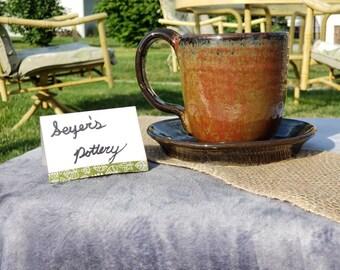 Coffee Mug  and Scone plate