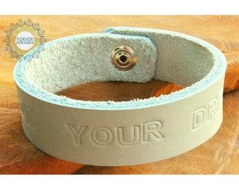 Bracelet Text Leather