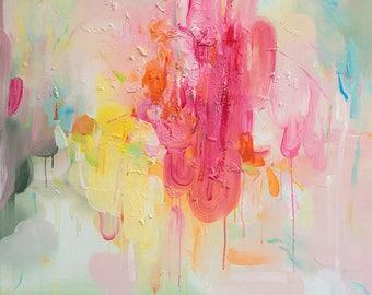 Hot Air- abstract art print, giclee art print, fine art, wall art, home decor, pink