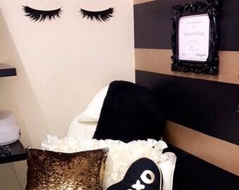 Lashes Decal Eyelash Sticker Lash Wall Decal Makeup Decor Hair Salon Makeup Wall Decal Eyelash Mascara Lashes Decal Sticker Hair Salon Decor