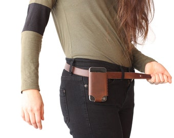 iPhone 5 Leather Belt Holder - Brown