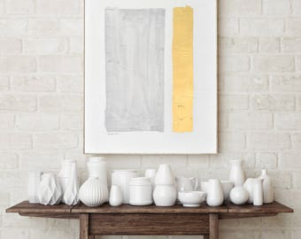Large textural painting, light grey textural painting, gilded art, gold leaf, gray watercolor painting, watercolor painting, watercolor,
