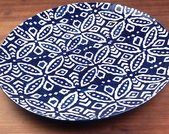Shippō Platter in Midnight Blue