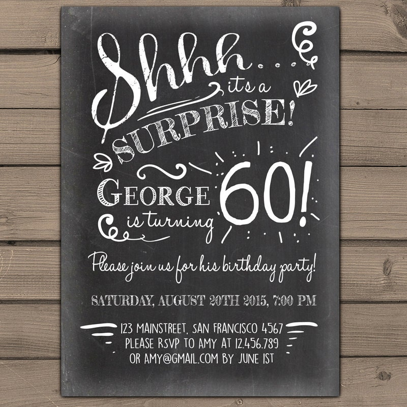 Perfect Surprise 60th Birthday Party Invitations Ensign - Invitation ...