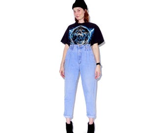 vintage 80s 90s BILL BLASS JEANS pleated jeans high waisted jeans mom jeans light wash jeans full hip tapered jeans skinny jeans womens xl
